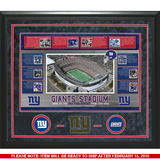 Giants Timeline Turf Collage Framed Memorabilia