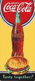 Drink Coca Cola Coke Tasty Together Blikskilt