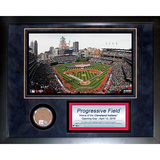 Progressive Field Mini Dirt Collage Framed Memorabilia
