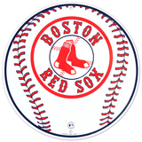 Boston Red Sox Baseball Logo Round Tin Sign