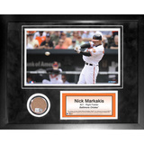 Nick Markakis Mini Dirt Collage Framed Memorabilia
