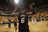 Indianapolis, IN - May 24: Miami Heat and Indiana Pacers - LeBron James Fotografie-Druck von Ron Hoskins