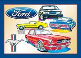 Ford Mustang Car Blechschild