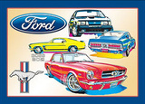 Ford Mustang Car Tin Sign