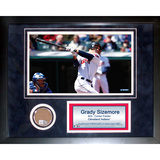 Grady Sizemore Mini Dirt Collage Framed Memorabilia