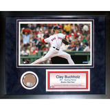 Clay Buchholz Mini Dirt Collage Framed Memorabilia