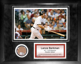 Lance Berkman Mini Dirt Collage Framed Memorabilia