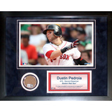 Dustin Pedroia Mini Dirt Collage Framed Memorabilia