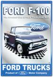 Ford Motor Company F-100 Pickups Trucks Blechschild