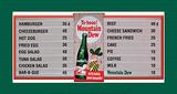 Mountain Dew Soda Menu Board Tin Sign