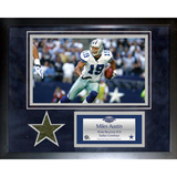 Miles Austin Dallas Cowboys Mini Turf Collage Framed Memorabilia