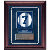 Mickey Mantle Retired Number Monument Park Brick Slice Collage w/ Nameplate Framed Memorabilia