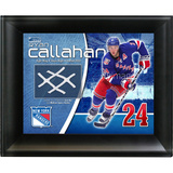Ryan Callahan New York Rangers Game Used Net Photo Collage Framed Memorabilia
