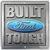 Build Ford Tough Truck Square Blechschild