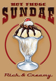 Hot Fudge Sundae Ice Cream Tin Sign