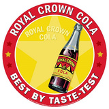 Royal Crown Cola RC Soda Best By Taste Test Round Cartel de chapa