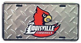 Louisville Cardinals Diamond License Plate Tin Sign