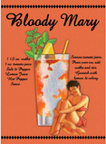 Bloody Mary Drink Recipe Sexy Girl Tin Sign