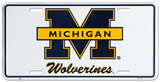 Michigan Wolverines License Plate Tin Sign