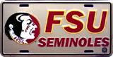 Florida State Seminoles License Plate Plaque en métal