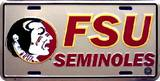 Florida State Seminoles License Plate Tin Sign