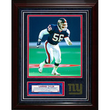 Lawrence Taylor Turf Collage w/ Photograph Framed Memorabilia