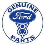 Ford Genuine Parts V-8 Car Round Blechschild