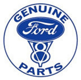 Ford Genuine Parts V-8 Car Round Tin Sign