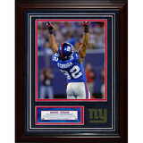 Michael Strahan Turf Collage w/ Photograph Framed Memorabilia