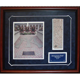 Monument Park Brick Slice Collage w/ Nameplate Framed Memorabilia