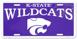 Kansas State Wildcats License Plate Blikskilt