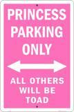 Princess Parking Only Plaque en métal