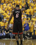 Indianapolis, IN - May 24: Miami Heat and Indiana Pacers - LeBron James Impresso fotogrfica por Jonathan Daniel