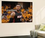 Indianapolis, IN - May 24: Miami Heat and Indiana Pacers - LeBron James Wall Mural by Nathaniel S. Butler