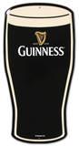 Plaque métallique en forme de pinte de Guinness Plaque en métal