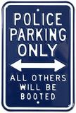 Police Parking Only Blikskilt
