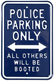 Police Parking Only Tin Sign