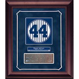 Reggie Jackson Retired Number Monument Park Brick Slice Collage w/ Nameplate Framed Memorabilia