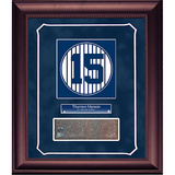 Thurman Munson Retired Number Monument Park Brick Slice Collage w/ Nameplate Framed Memorabilia