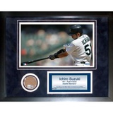 Ichiro Suzuki Mini Dirt Collage Framed Memorabilia