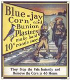 Blue Jay Corn Bunion Wall Sign