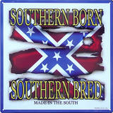 Dixie Outfitters Southern Born Bred Made in the South Tin Sign