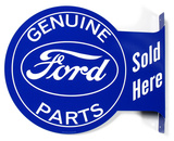 Genuine Ford Parts Sold Here Plaque en métal