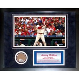 Jimmy Rollins Mini Dirt Collage Framed Memorabilia