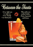 Between the Sheets Drink Recipe Sexy Girl Tin Sign