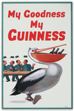 My Goodness My Guinness Beer Pelican Placa de lata