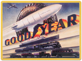 Goodyear Blimp - Metal Tabela