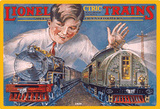 Lionel Boy with Toy Trains Model Railroad Tin Sign