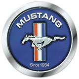Ford Mustang Logo Since 1964 Round - Metal Tabela