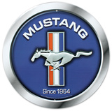 Ford Mustang Logo Since 1964 Round Cartel de metal